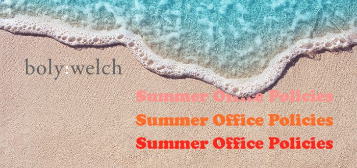 Beach with gentle wave on the sand vacation ocean warm sunny Summer Office Policies
